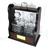Personalised Tantalus with Crystal Decanters, ref CDPT